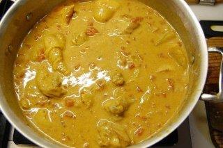 Receta de pollo con leche de coco y curry