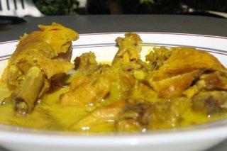 Receta de pollo con salsa de almendras