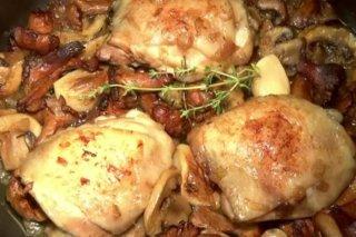 Receta de pollo con setas al horno