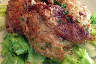 Receta de pollo crujiente con escarola