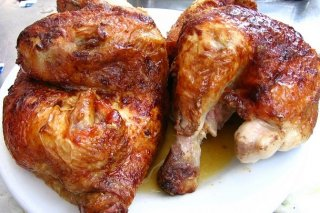 Receta de pollo de granja asado