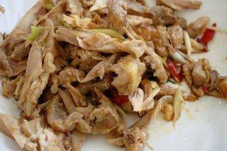 Receta de pollo desmenuzado