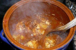 Receta de pollo en cacahuate