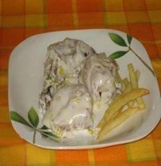 Receta de pollo en salsa de puerros
