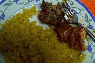 Receta de pollo frito con arroz