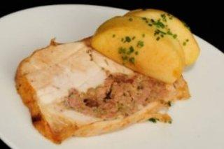 Receta de pollo relleno de jamón y huevo