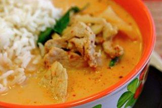 Receta de pollo tailandés en curry rojo