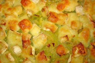 Receta de puerros al horno con queso brie