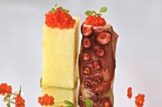 Receta de pulpo y patata con caviar de pimentón dulce