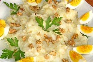 Receta de puré de patatas con bacalao