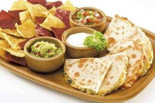 Receta de quesadillas de harina de maíz y pollo