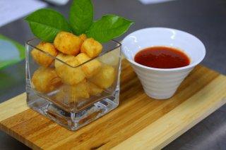 Receta de queso frito con mermelada de tomate