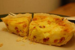 Receta de quiche de bacón y queso