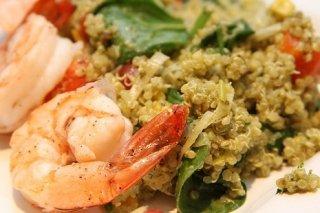 Receta de quinoa con mariscos