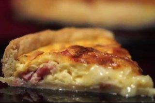 Receta de quique de jamón y queso brie