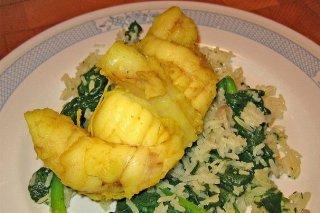 Receta de rape al curry con arroz basmati