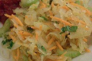 Receta de repollo con zanahoria