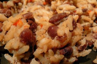 Receta de rice and beans con coco