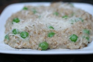 Receta de risotto con guisantes