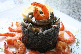 Receta de risotto de arroz negro