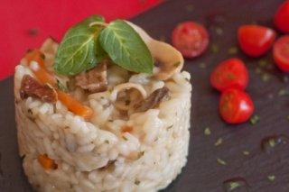 Receta de risotto de trufa y champiñones