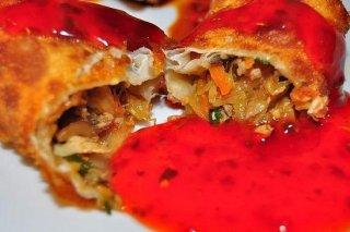 Receta de rollitos con salsa agridulce