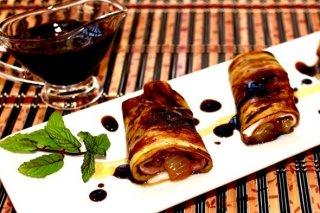 Receta de rollitos de berenjena con jamón