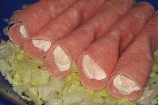 Receta de rollitos de jamón york