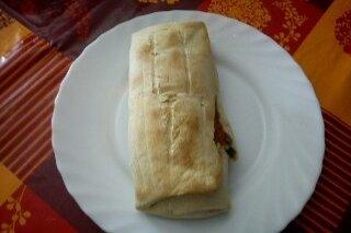 Receta de rollitos rellenos de espinacas y frutos secos
