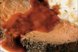 Receta de rosbif con mostaza