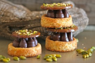 Receta de sablé con ganache de chocolate y frutos secos