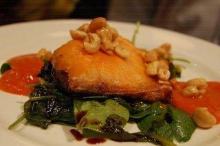 Receta de salmón a la plancha con cacahuetes