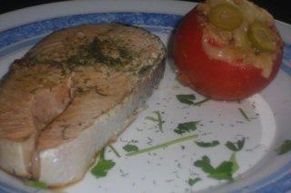 Receta de salmón a la plancha con eneldo