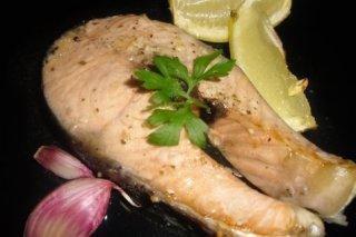 Receta de salmón al ajillo