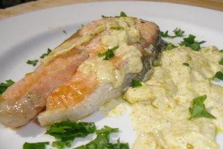 Receta de salmón al curry