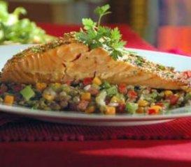 Receta de salmón al horno con salsa de soja