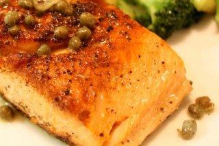 Receta de salmón con alcaparras
