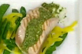 Receta de salmón con pesto de pistacho
