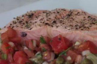 Receta de salmón con salsa ravigote