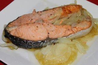 Receta de salmón en estuche de vapor