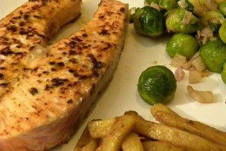 Receta de salmón frito