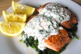 Receta de salmón nata