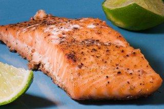 Receta de salmón rosado al horno