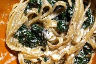 Receta de salsa de espinacas y mascarpone