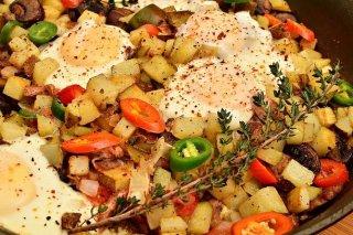 Receta de salteado de verduras con huevo