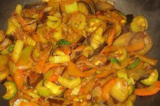 Receta de salteado de verduras y pulpo