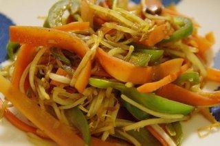 Receta de salteado de zanahoria y brotes de soja