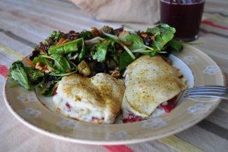Receta de san jacobos al horno de pimiento y queso