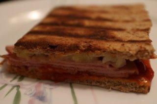 Receta de sándwich de jamón cocido y piña