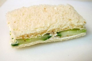 Receta de sandwich de pepino con queso